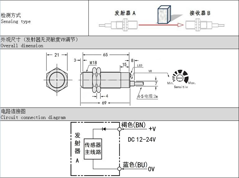 光电开关 接近传感器 反光板应用